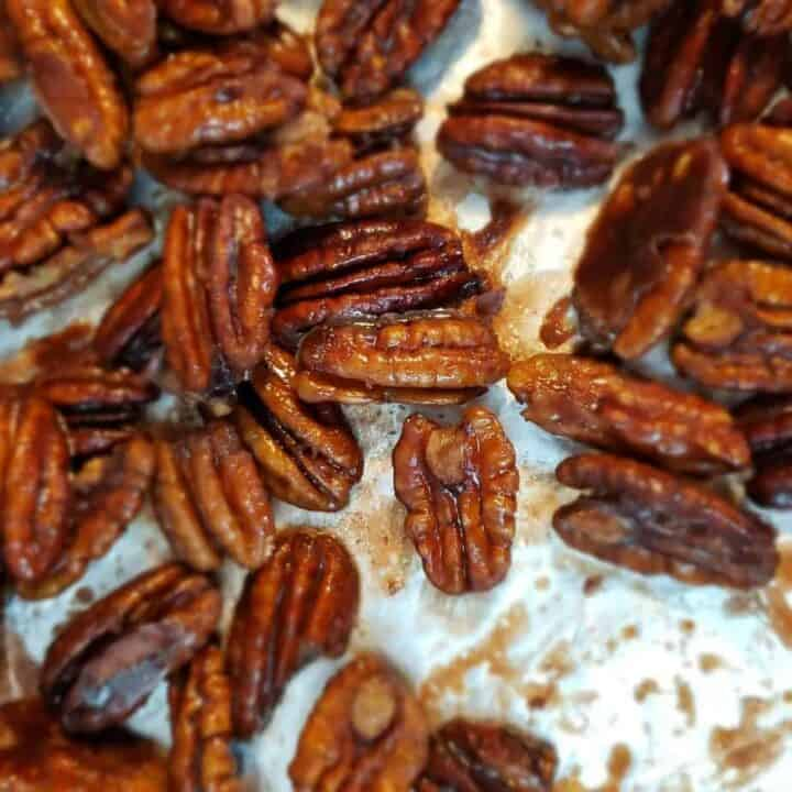 Sweet Bourbon Candied Pecans
