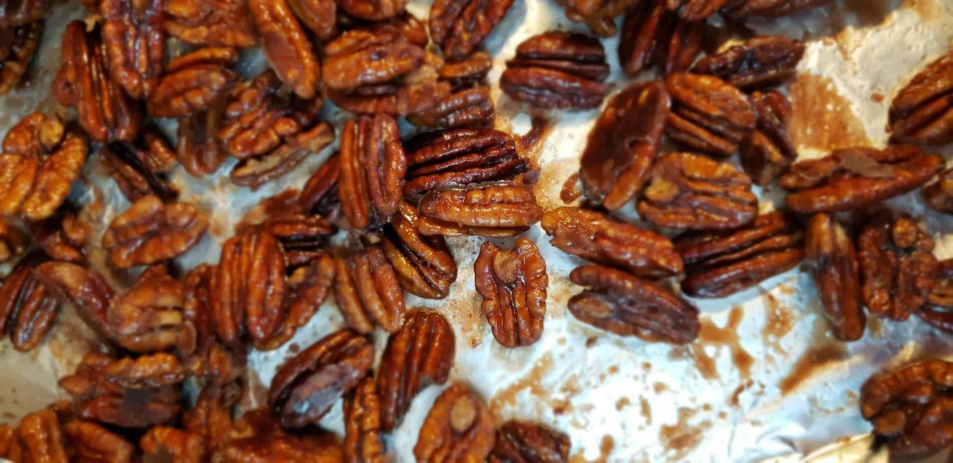 Sweet Bourbon Candied Pecans