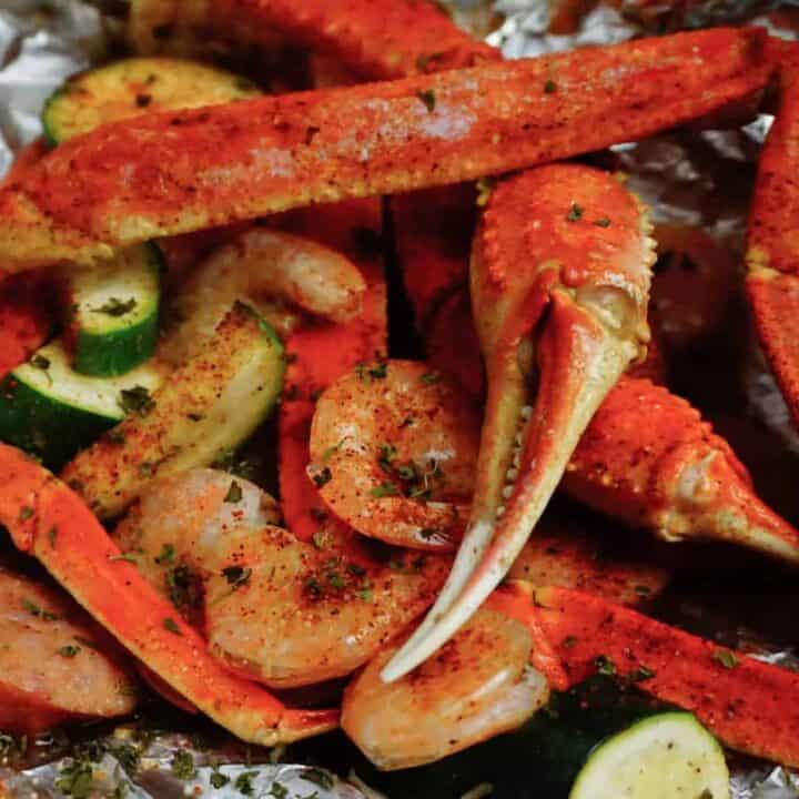 Seafood Foil with crab and shrimp