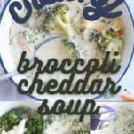 how to make creamy broccoli cheddar soup