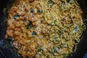 Creamy Keto Mediterranean Shrimp