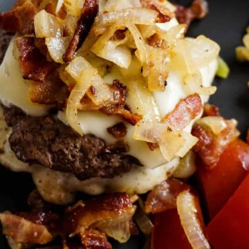 Bourbon Bacon Swiss Cheeseburger