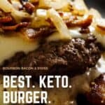 Bourbon Burger with bacon and Swiss