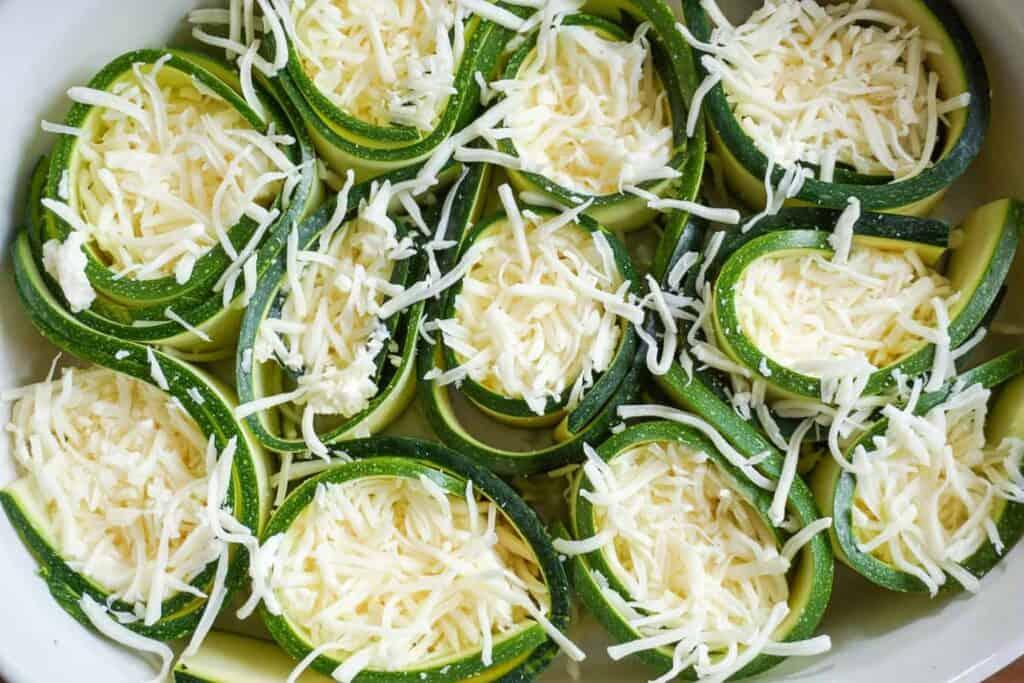 zucchini mozzarella roll ups