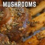 Italian mushrooms in a pan