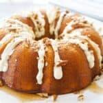 keto spice cake with maple bourbon glaze