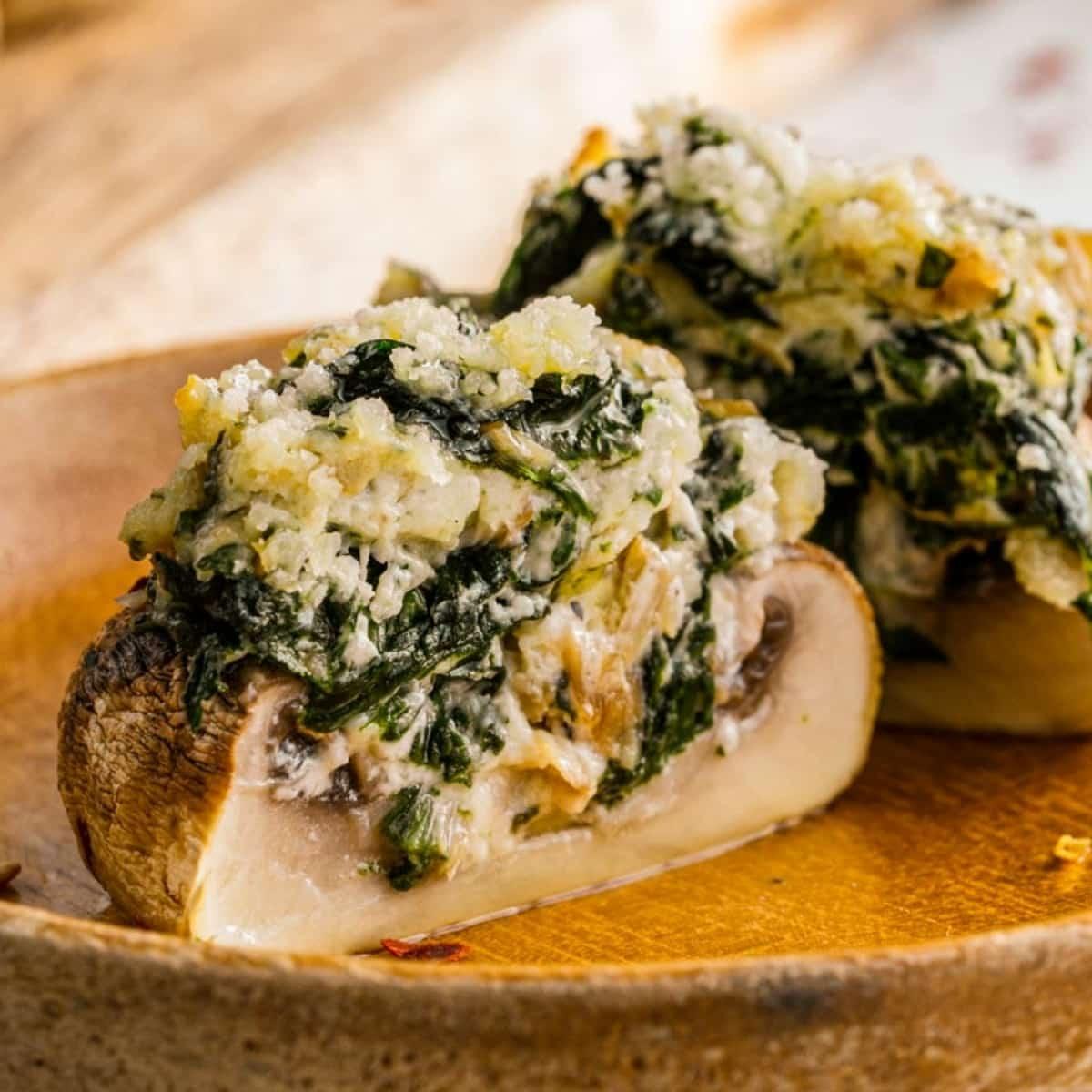 spinach parmesan stuffed mushrooms