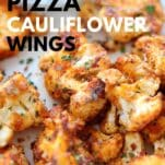 Pizza flavored cauliflower nuggets