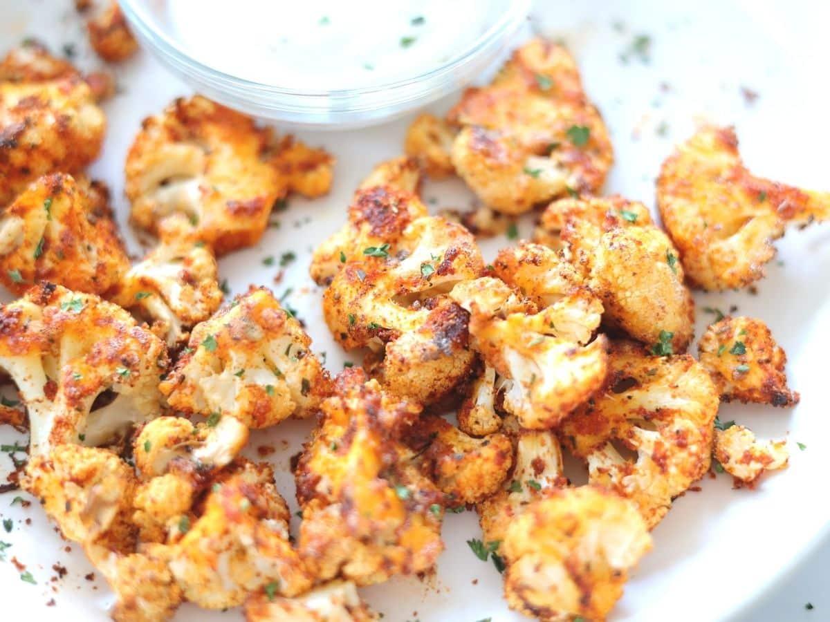 crisp fried cauliflower with ranch