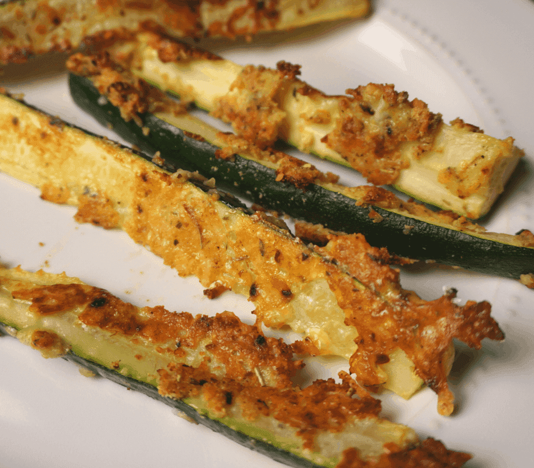 extra crispy zucchini fries fresh out of the oven