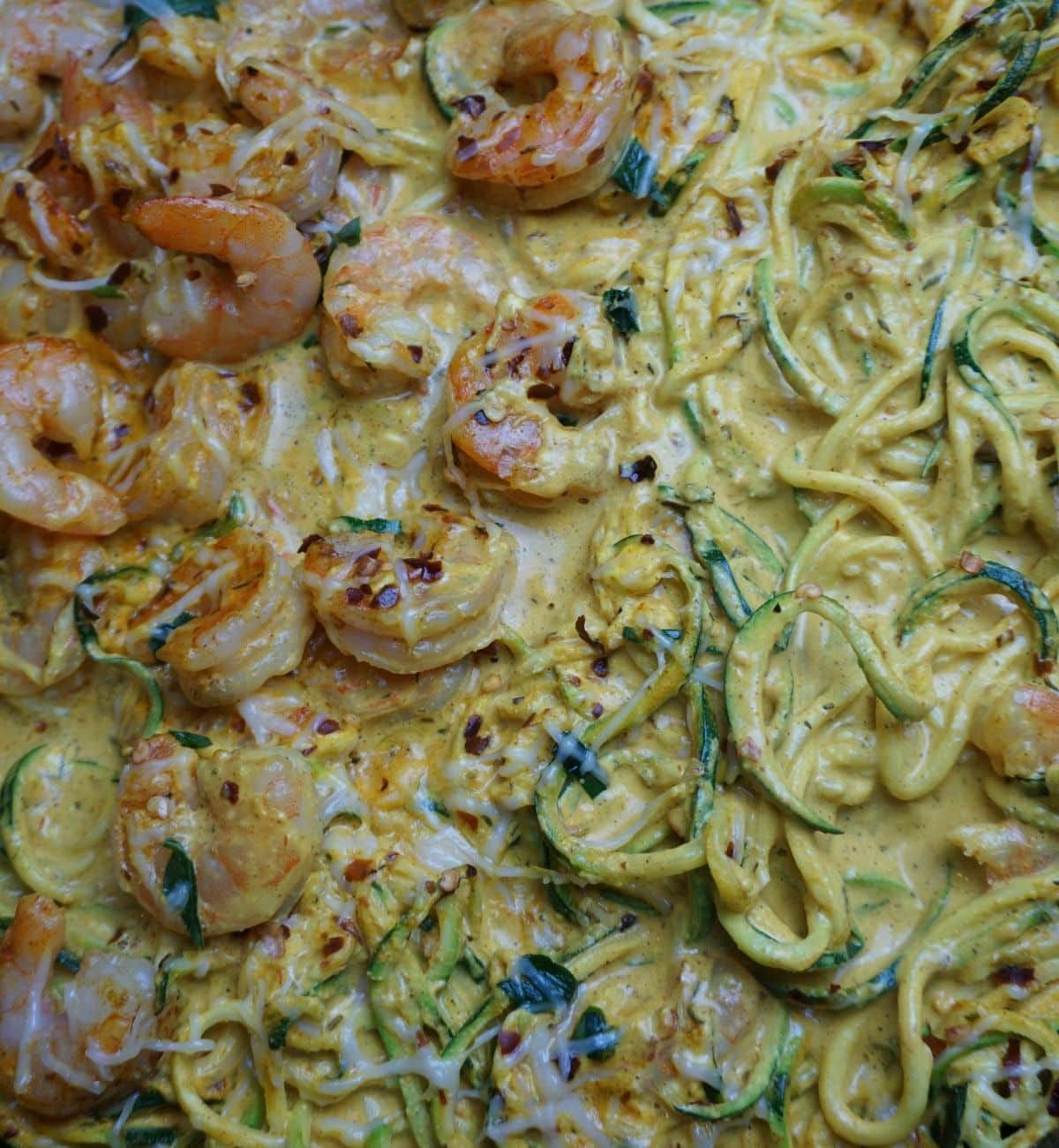 Mediterranean shrimp and zoodles