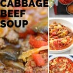 spicy cabbage beef soup