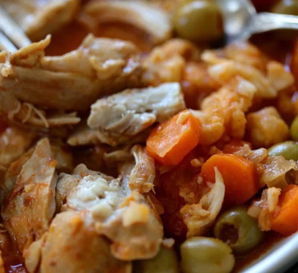 tender chicken thighs in stew