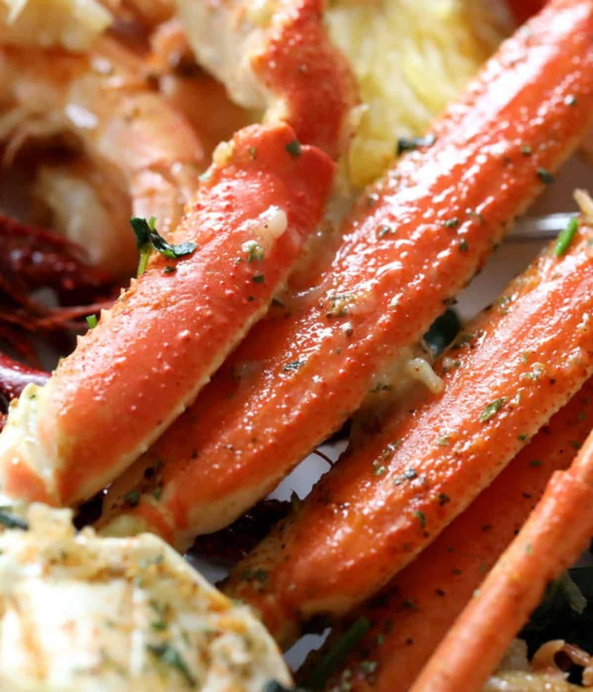 buttery easy to make crab legs