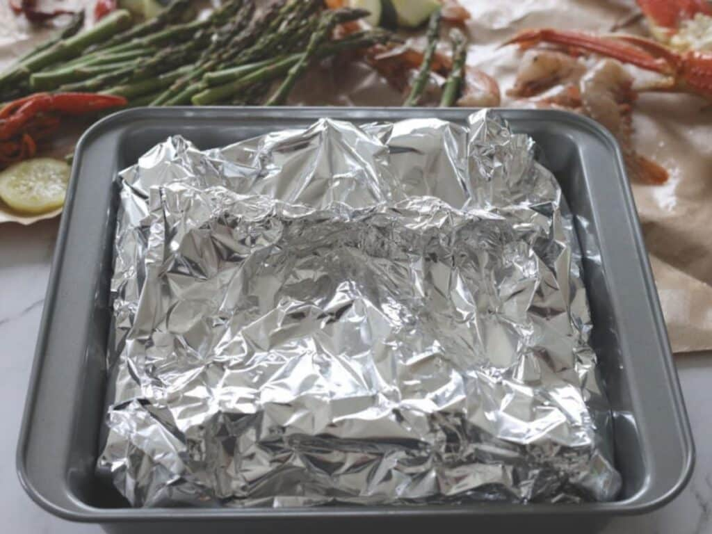 foil wrapped seafood boil