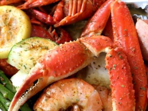 Keto Seafood Foil Packs With Shrimp Crab Low Carb Quick