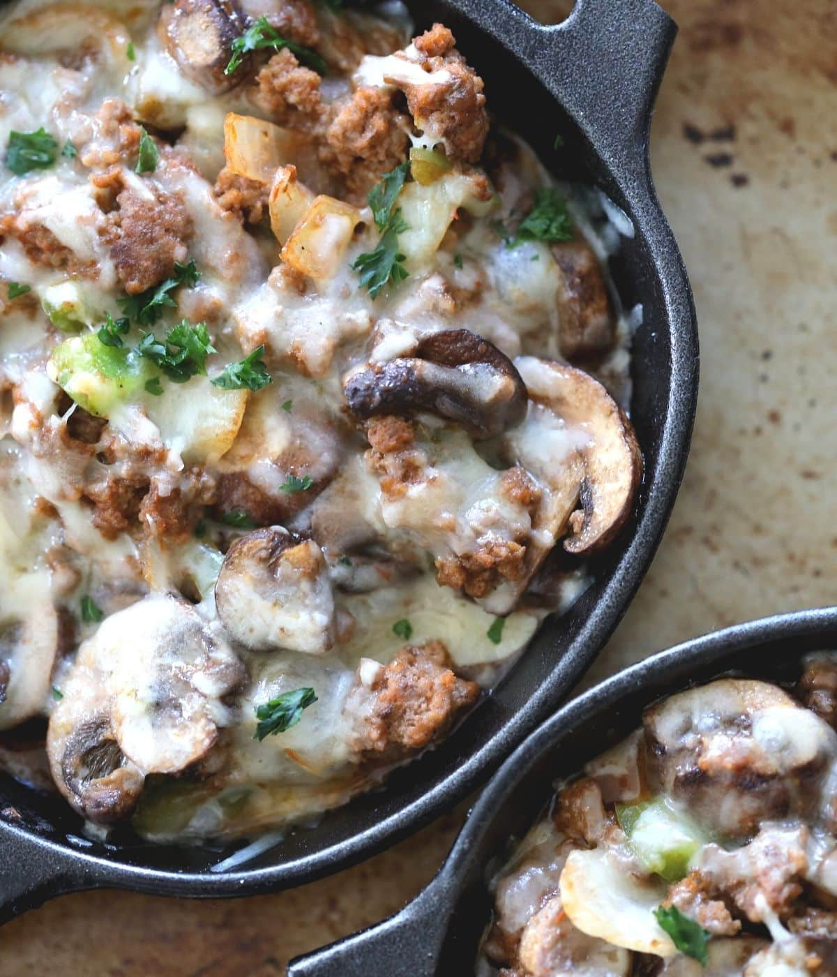 manwich sloppy joe casserole with onions green peppers and mushrooms