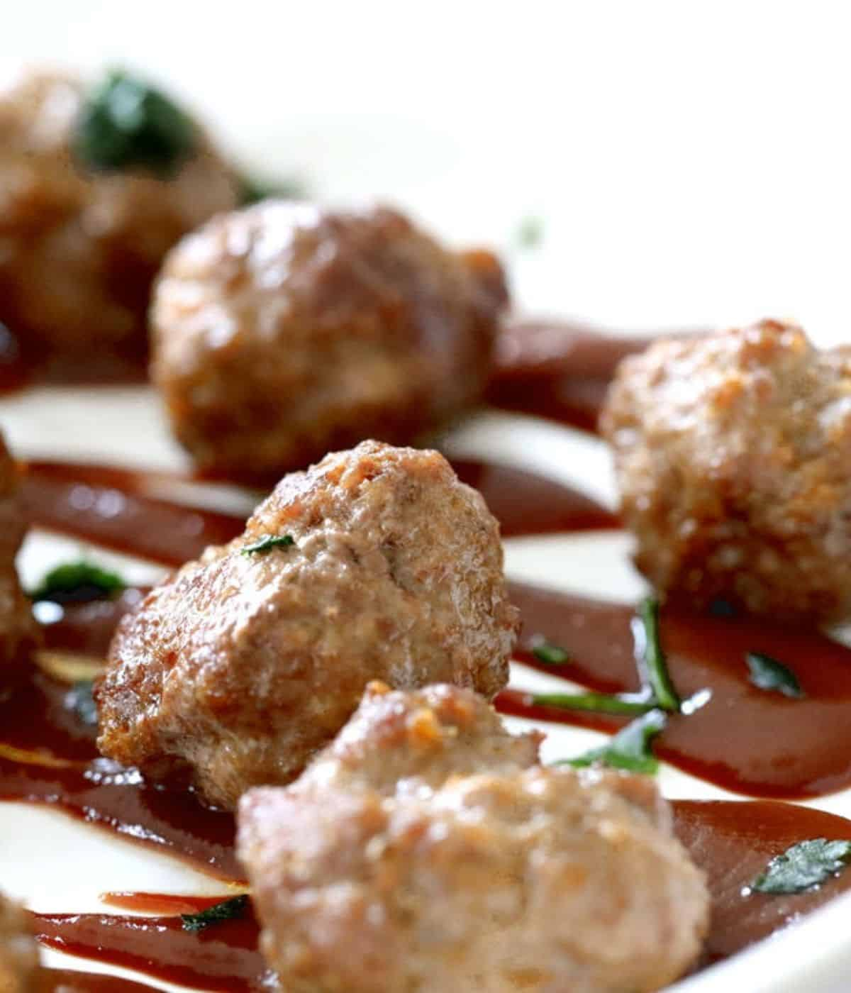 low carb meatballs with bbq sauce