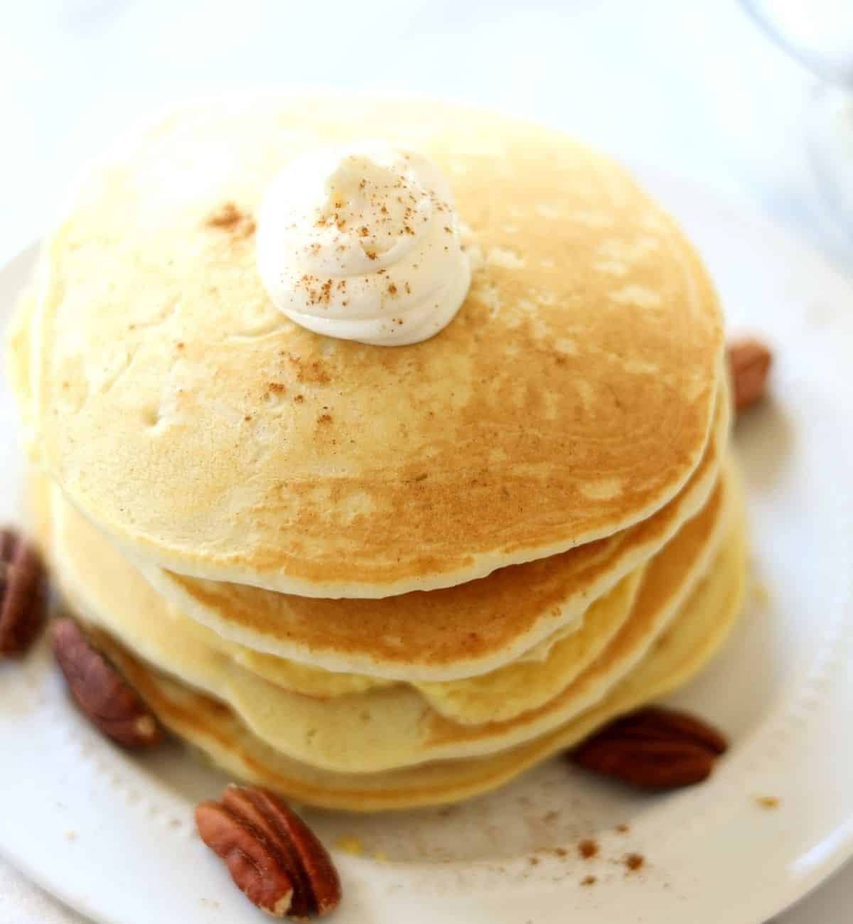 low carb pancakes with cream cheese frosting