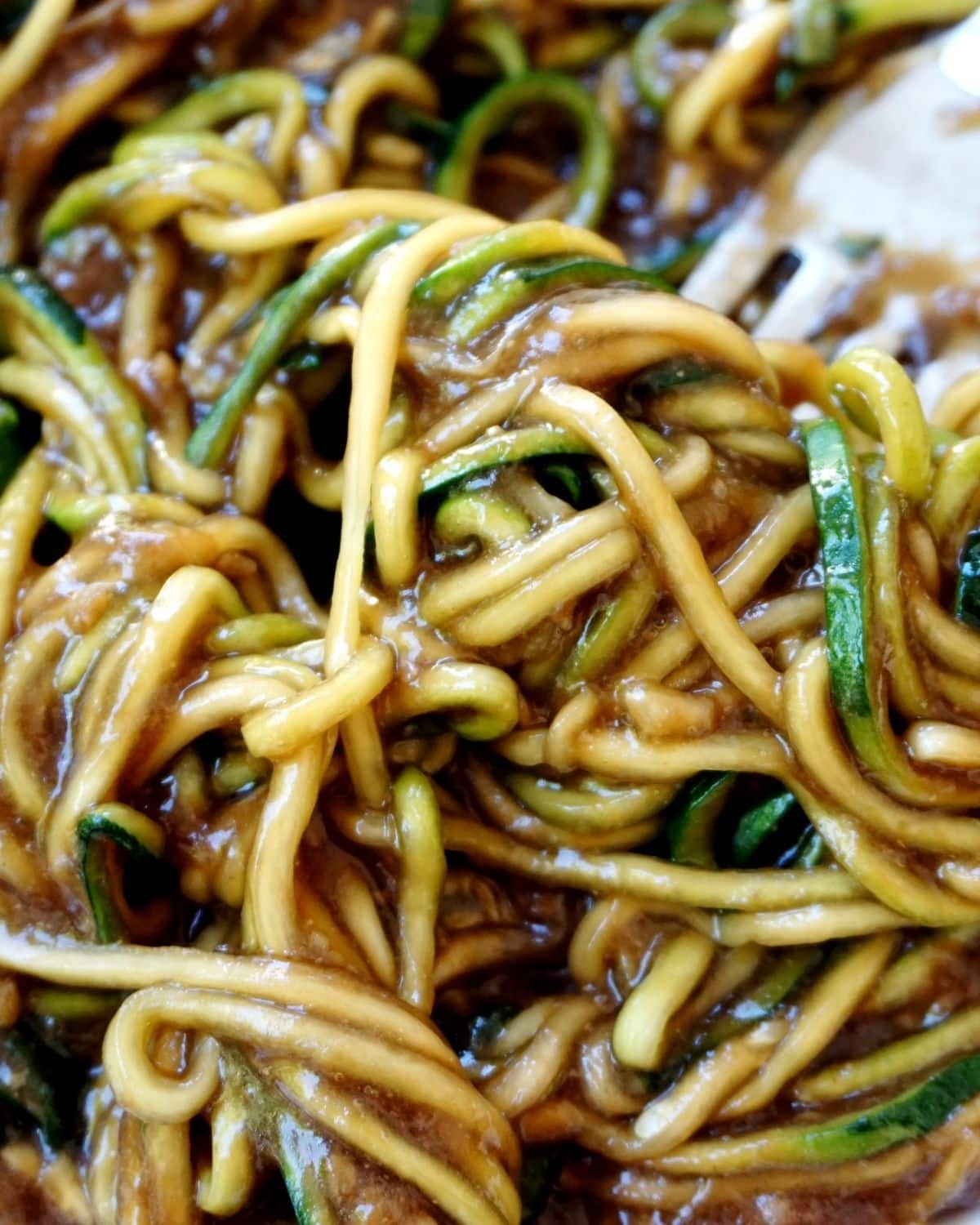 zucchini noodles with Chinese seasonings
