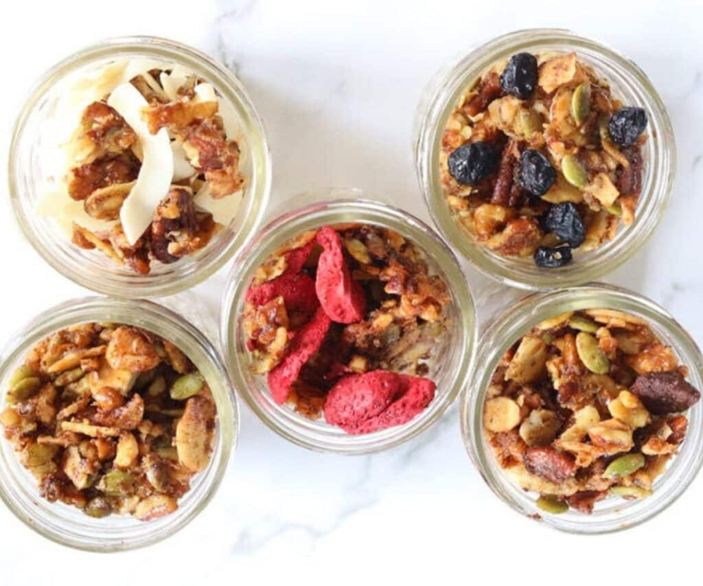 5 types of keto granola cereal