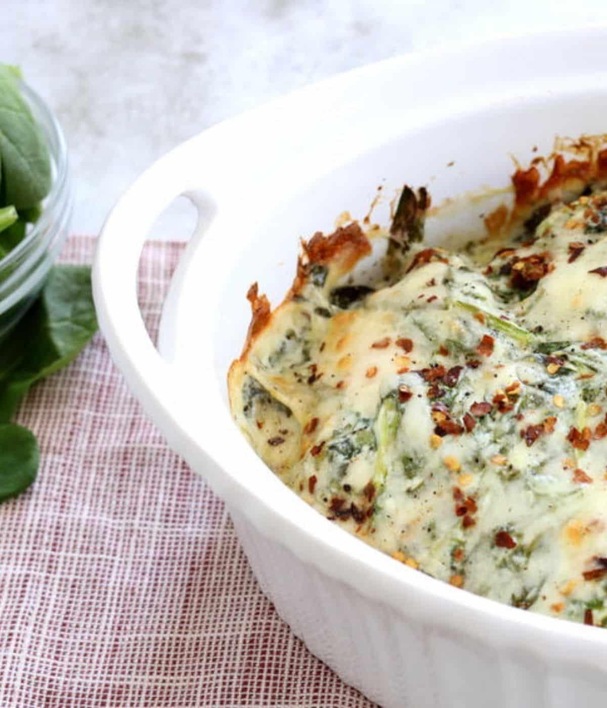 creamy chicken spinach casserole