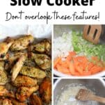 instant pot and slow cooker features