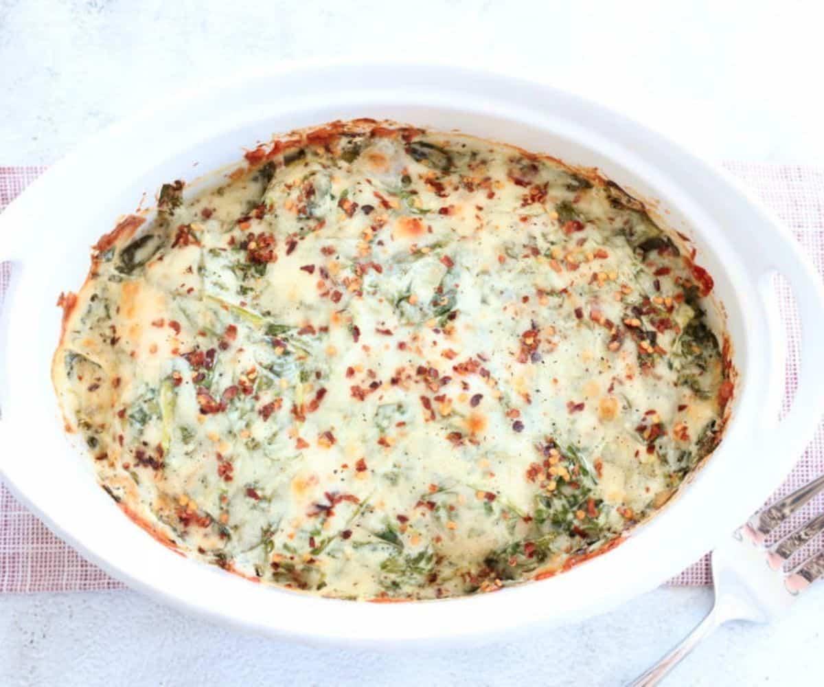 spinach cheese chicken casserole