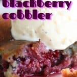 sweet keto blackberry cobbler