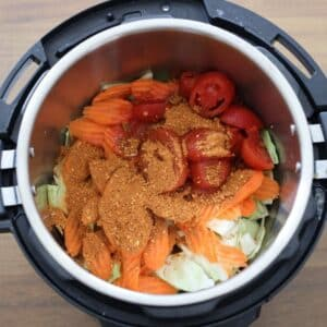 _cabbage soup ingredients in instant pot