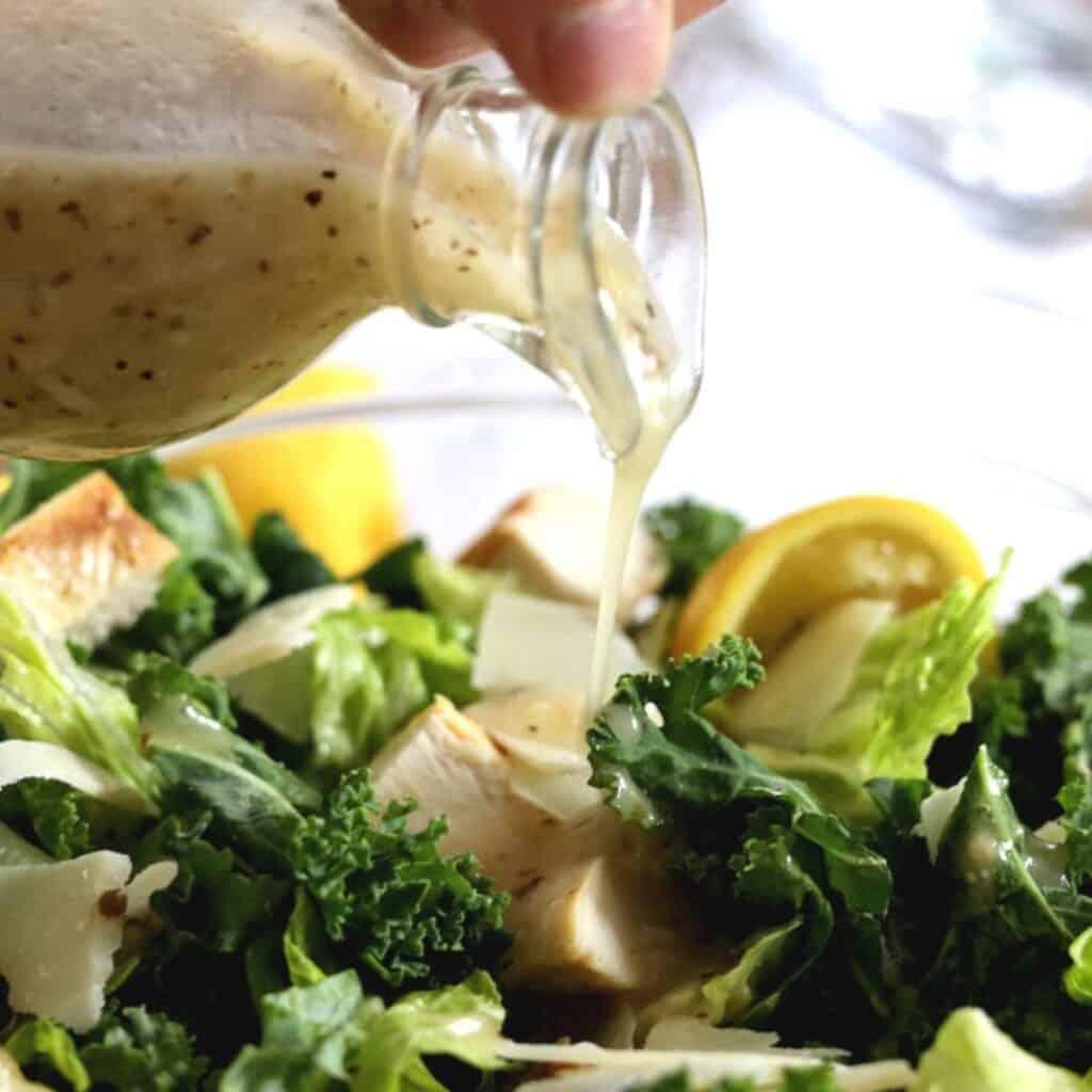 copycat lemon parmesan kale cesar salad