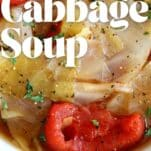 instant pot cabbage soup with tomatoes