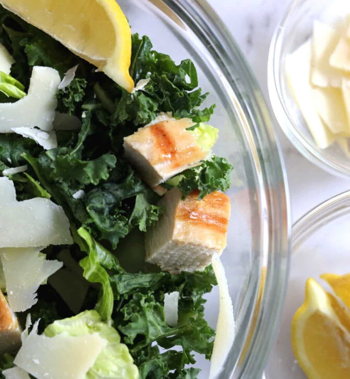 kale with lemon parmesan