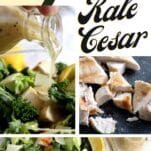 lemon kale cesar salad
