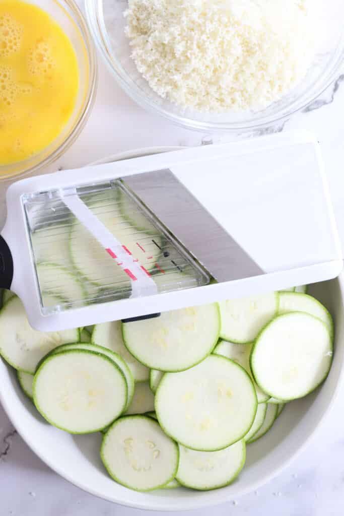 zucchini with mandoline slicer