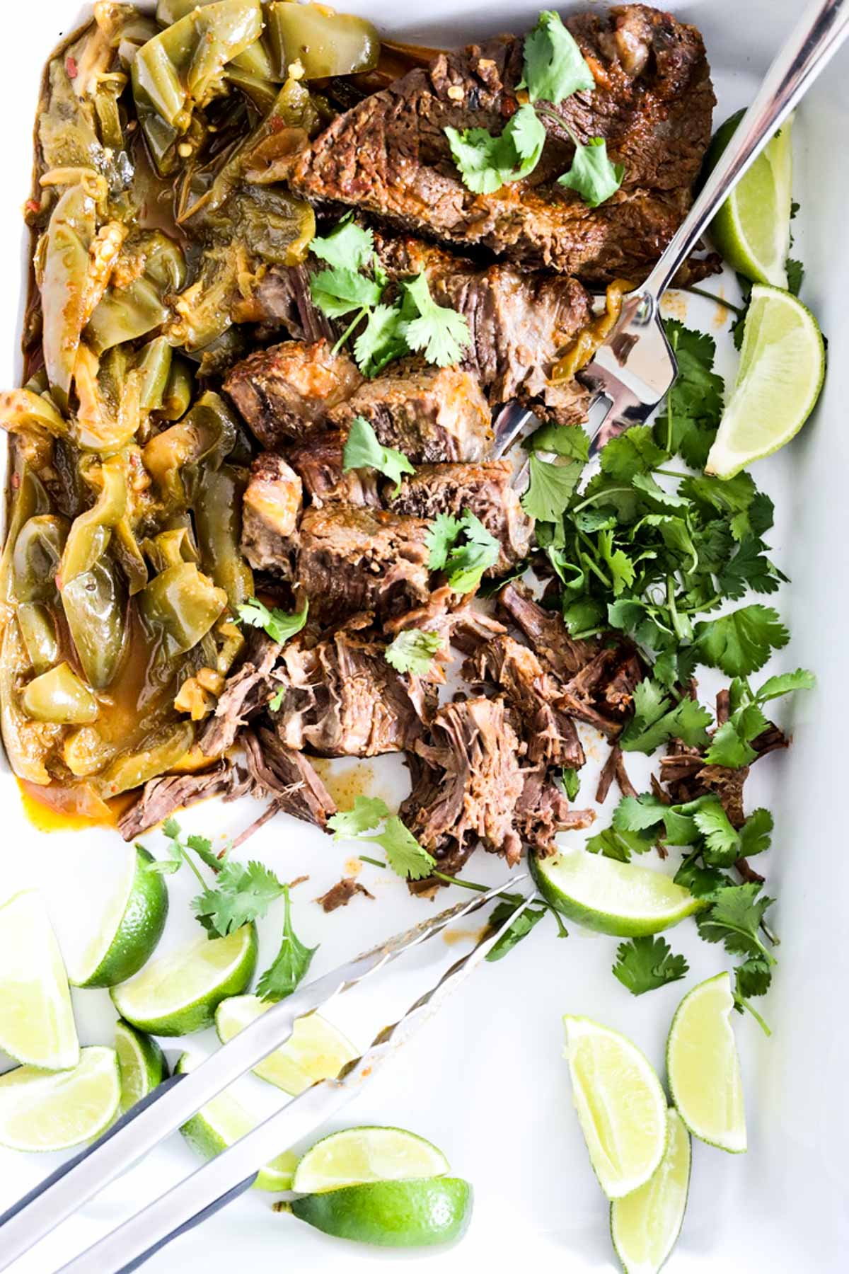 carne asada beef with lime and cilantro