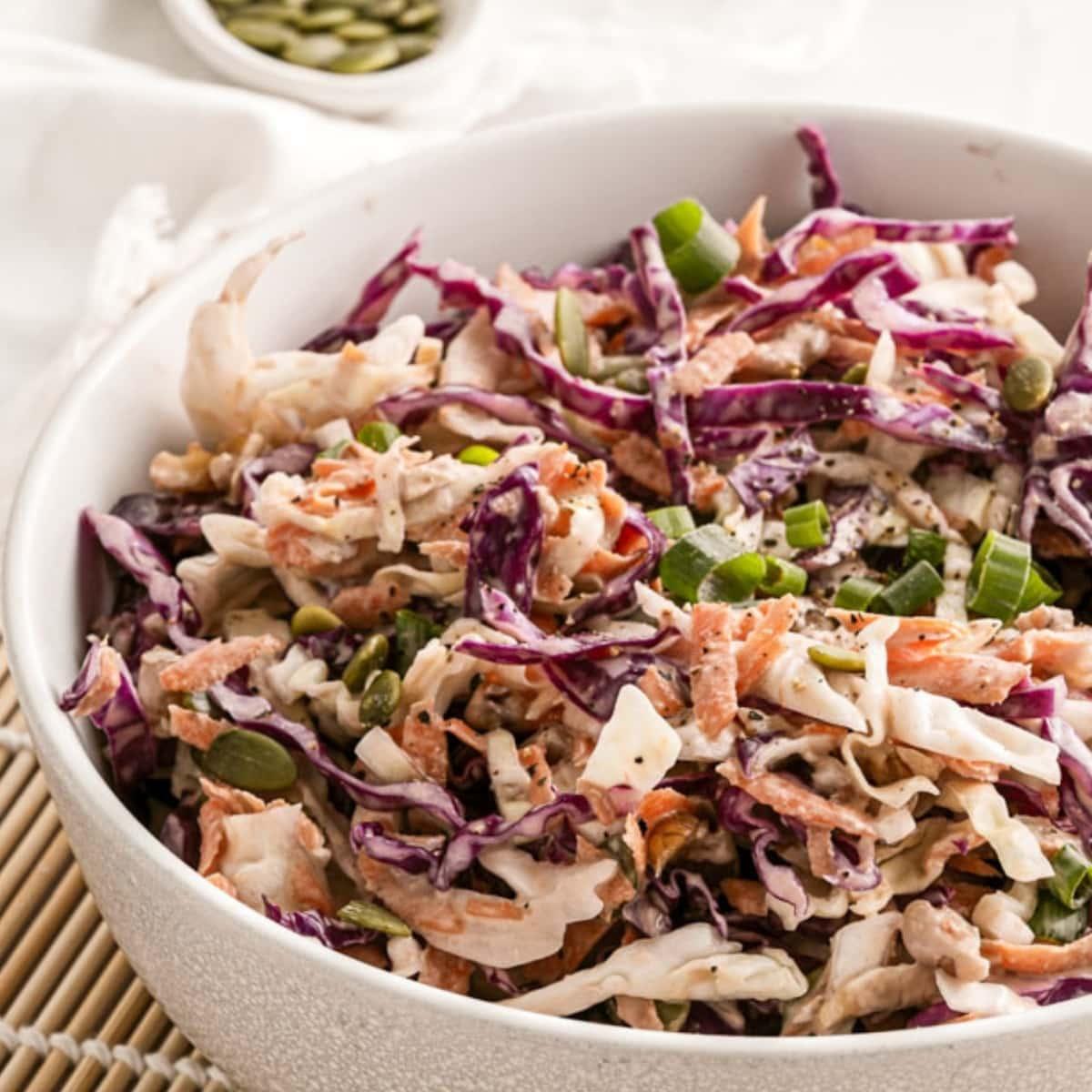 crunchy keto coleslaw