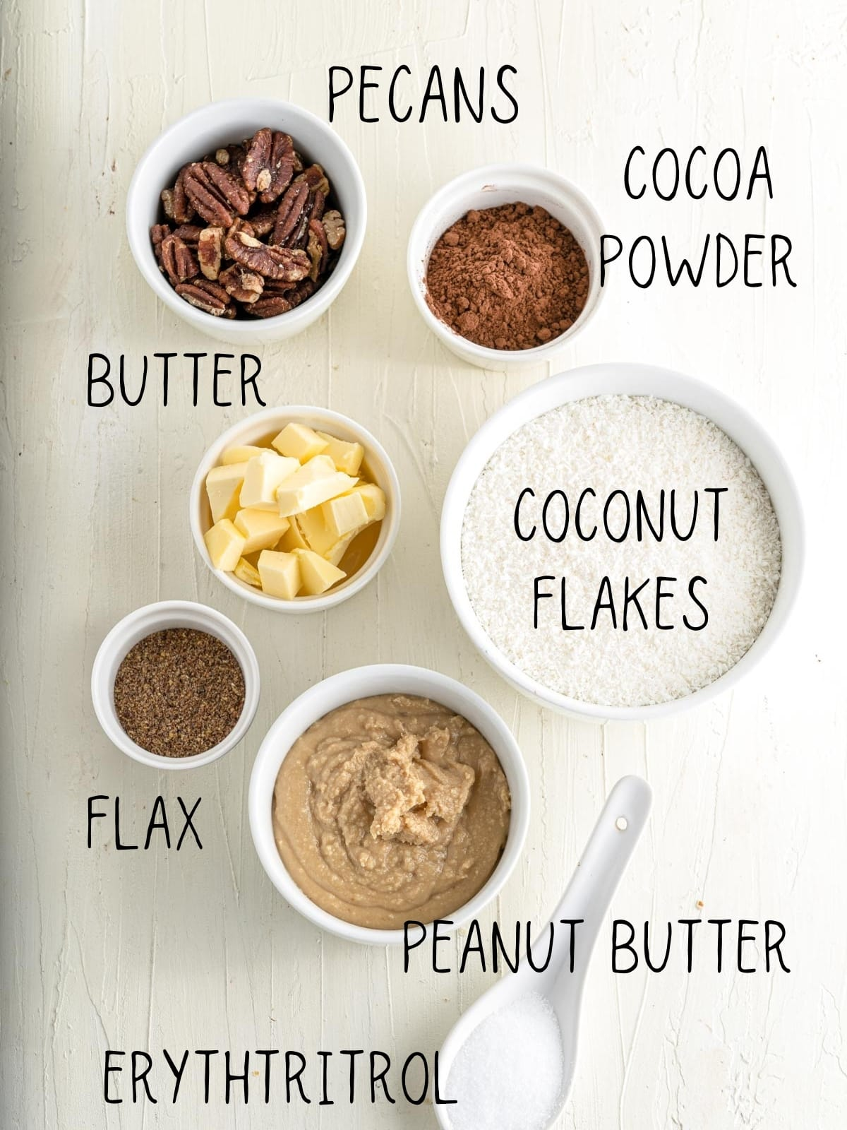 table with ingredients for no bake cookies