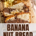 slices of marbled keto banana nut bread