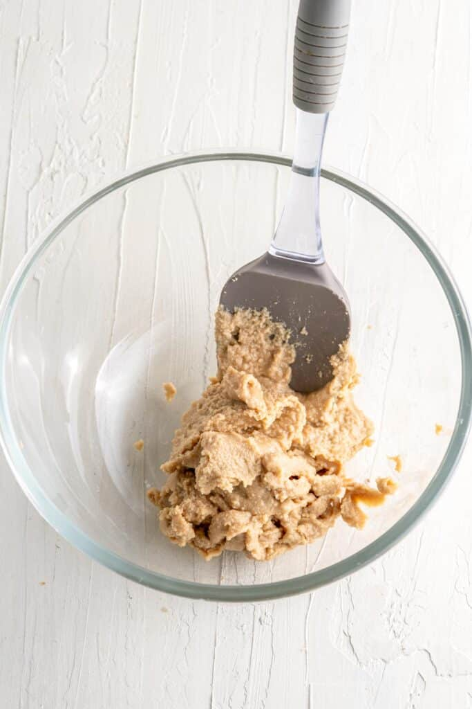 add peanut butter to a bowl