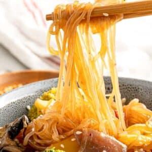 low carb stir fry noodles with veggies