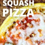 pizza made with spaghetti squash