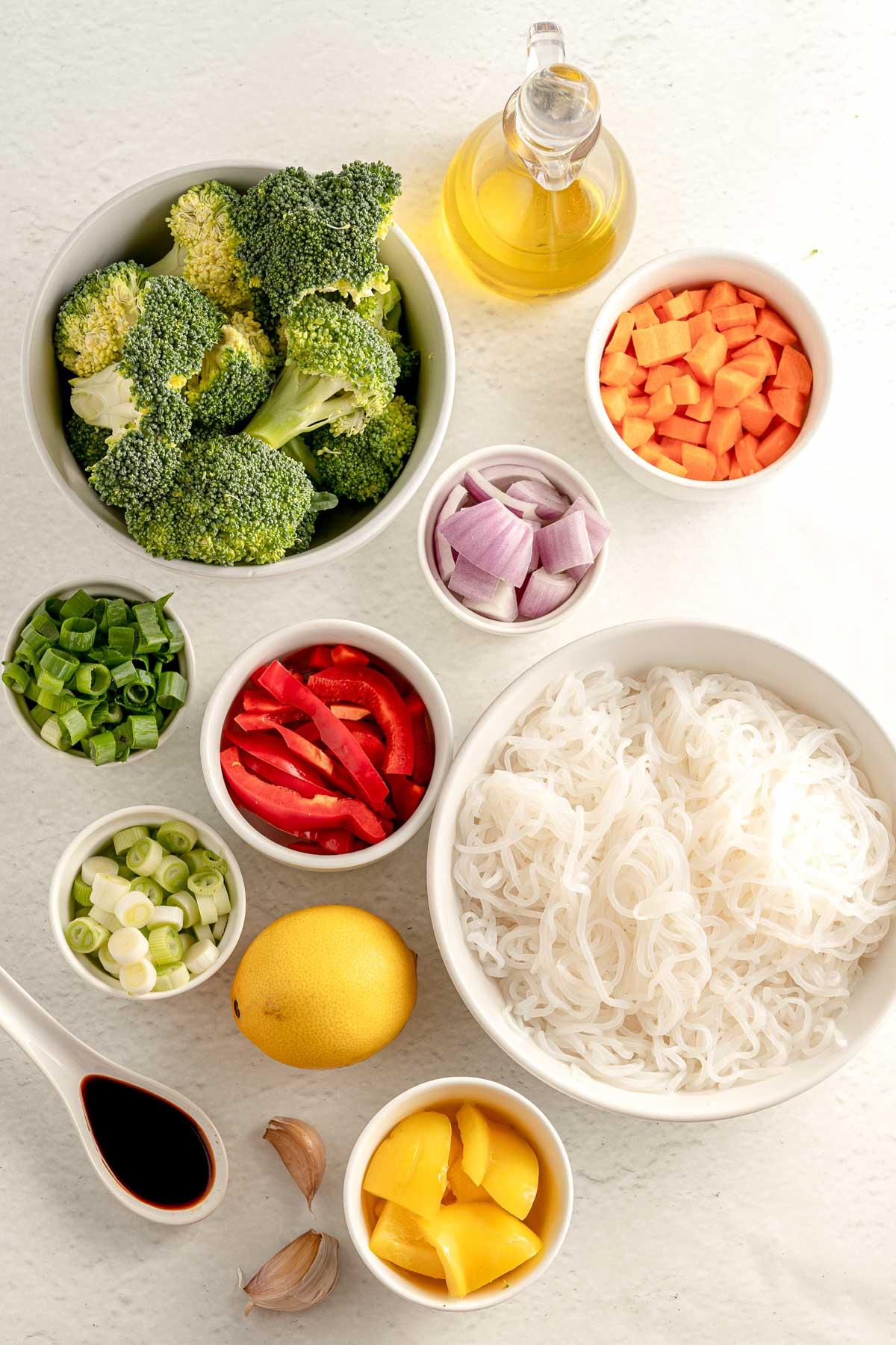 ingredients for veggie stir fry