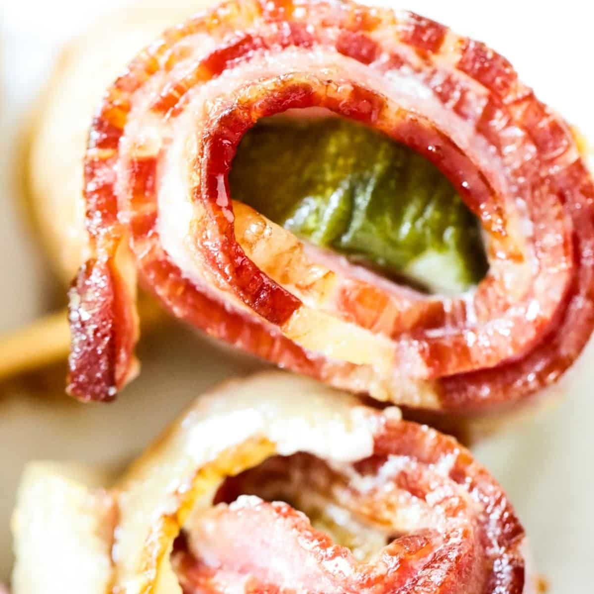 bacon wrapped air fryer pickles