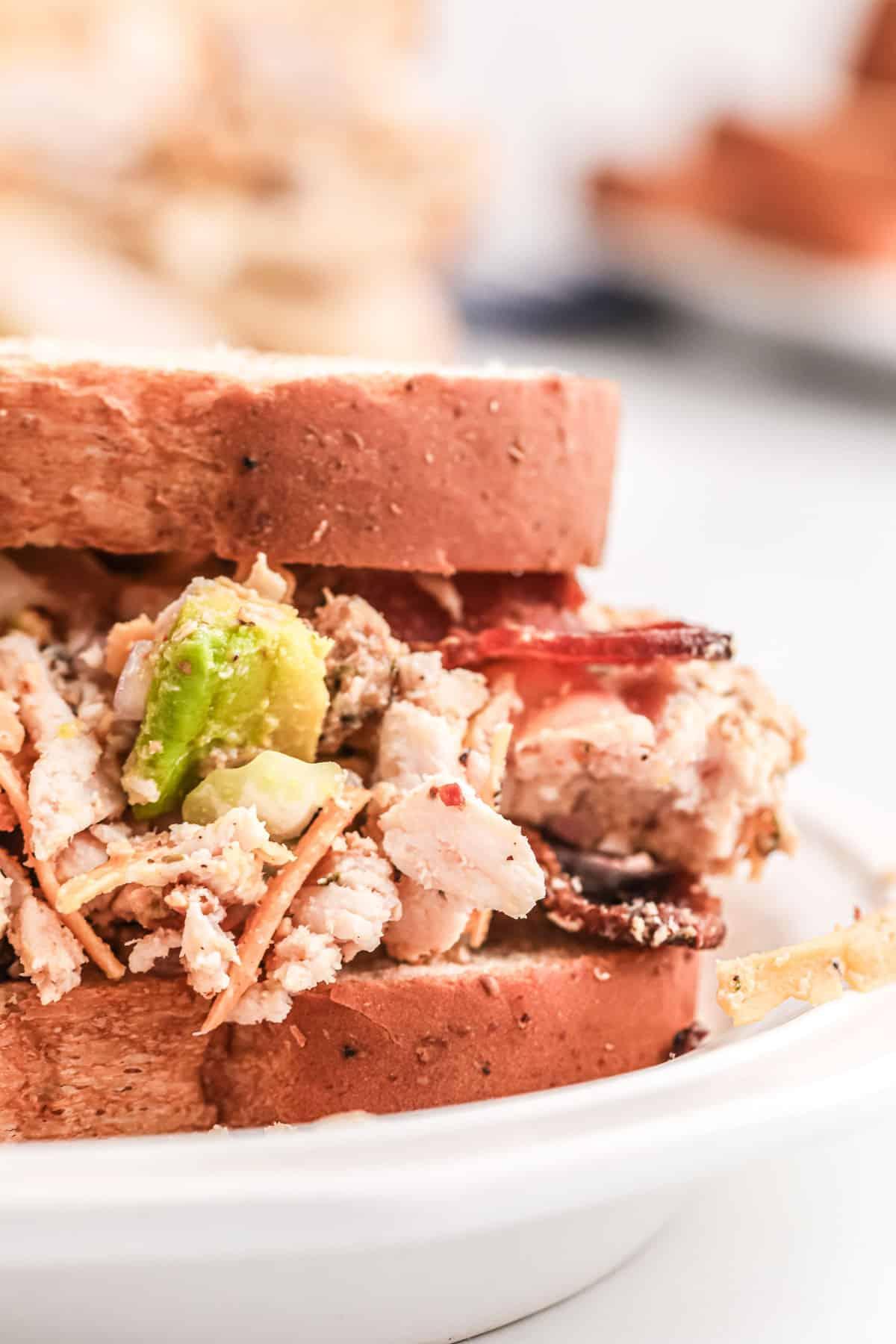 bacon avocado chicken salad sandwich
