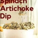 easy baked keto spinach artichoke dip