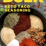 easy bulk keto taco seasoning in a bowl