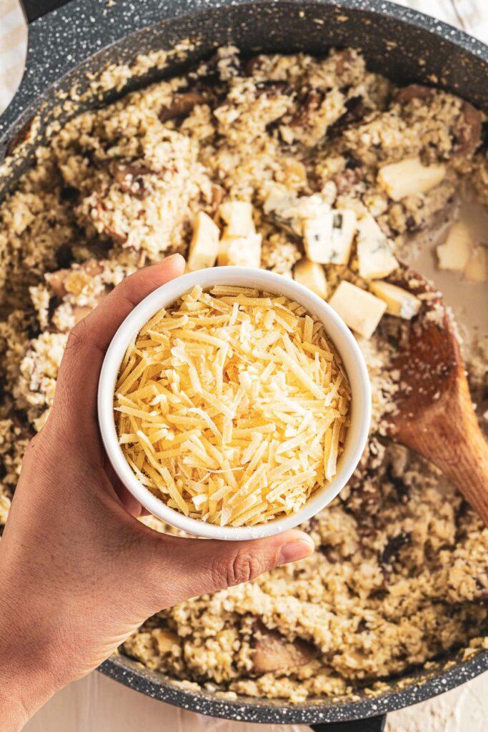 add remaining seasonings and parmesan cheese