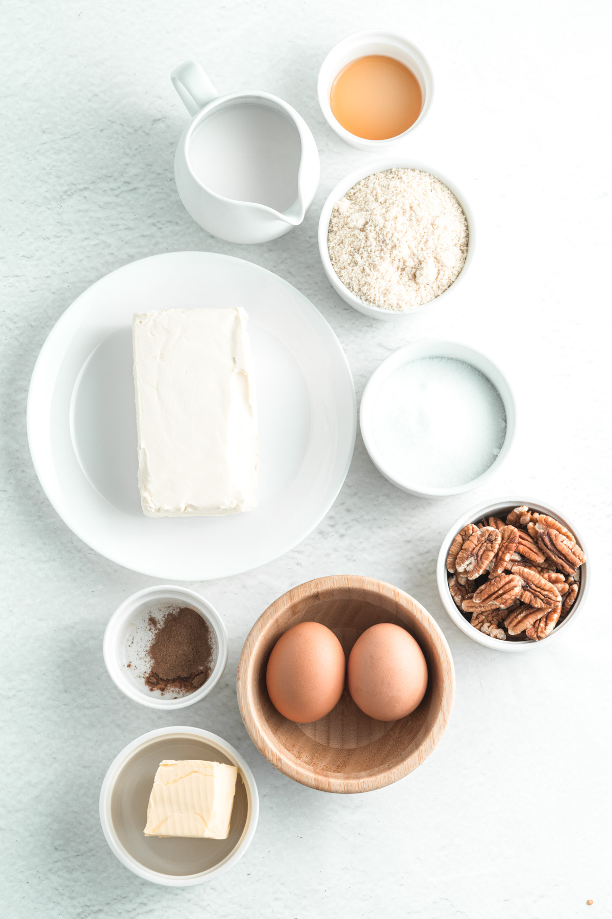 ingredients for keto pecan cheesecake